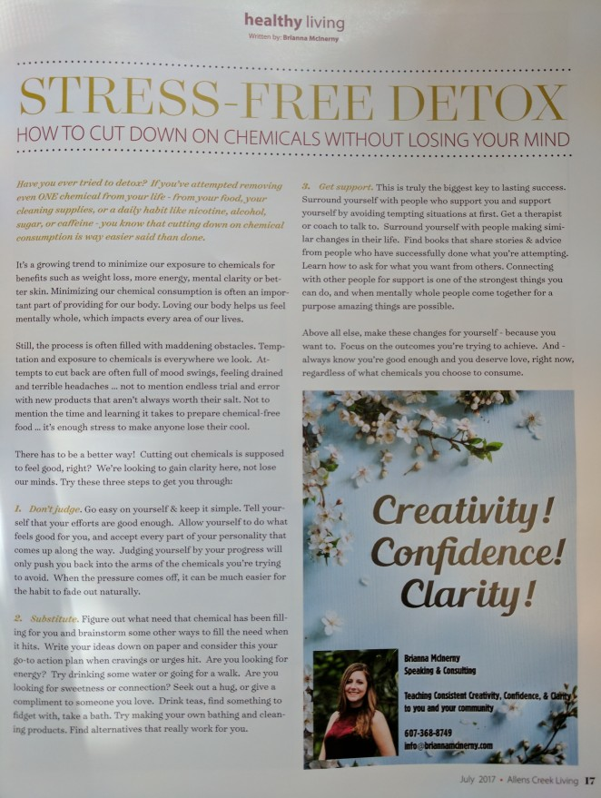 Stress-Free Detox: Cut Down on Chemicals without Losing Your Mind